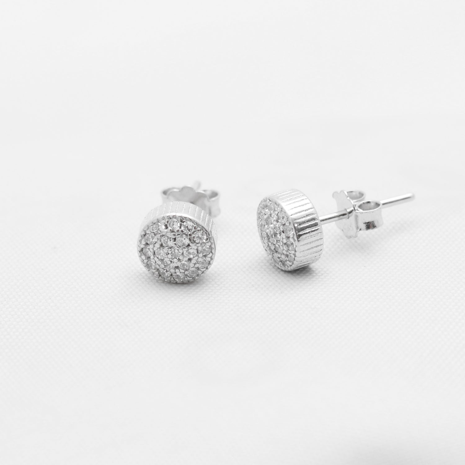 Circle Silver Earrings