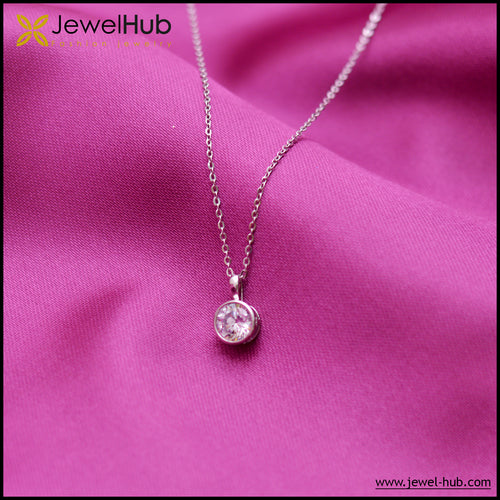 Diamond CZ Silver Necklace