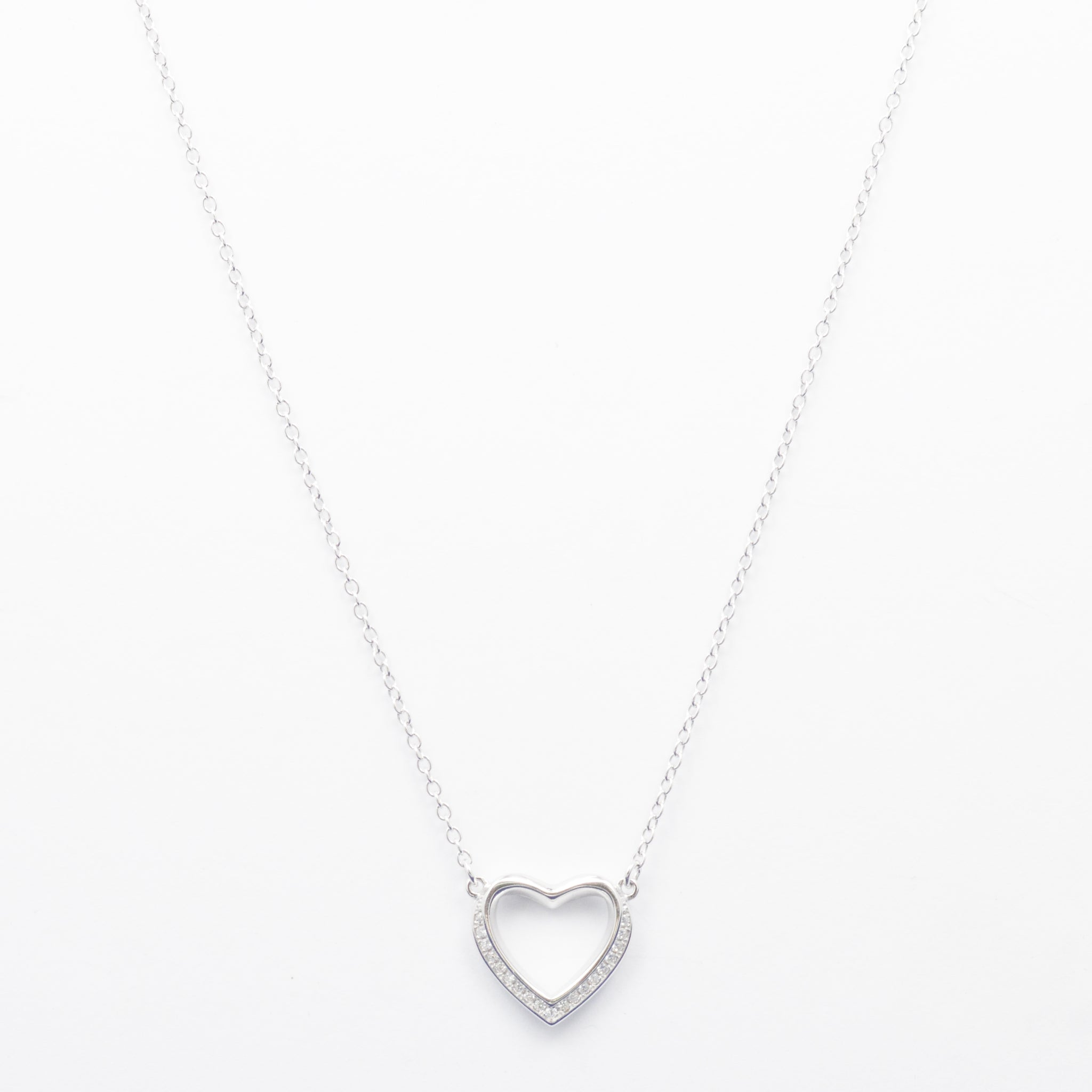 Classy Heart Silver Necklace