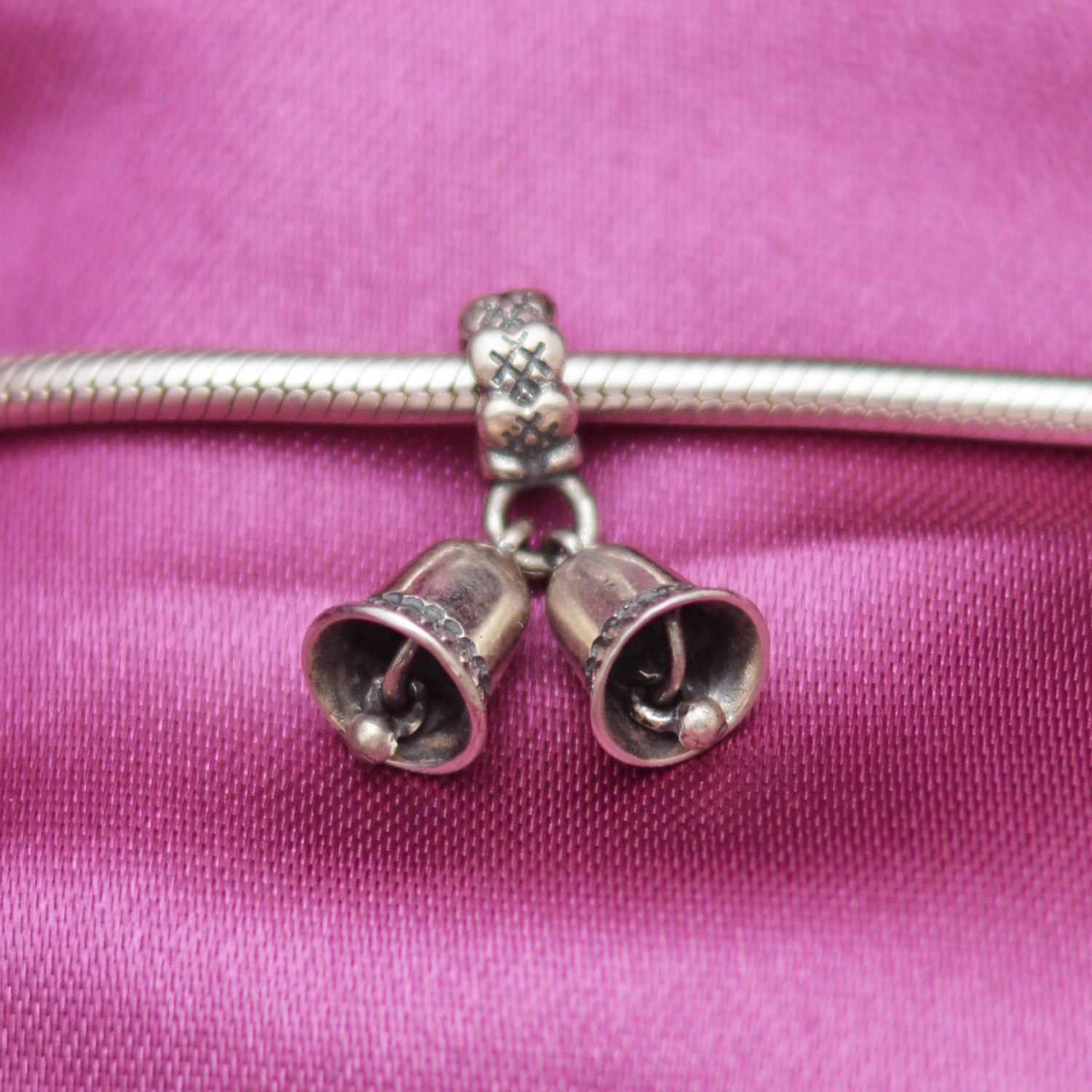 Bells Silver Charm