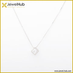 One Diamond Silver Necklace
