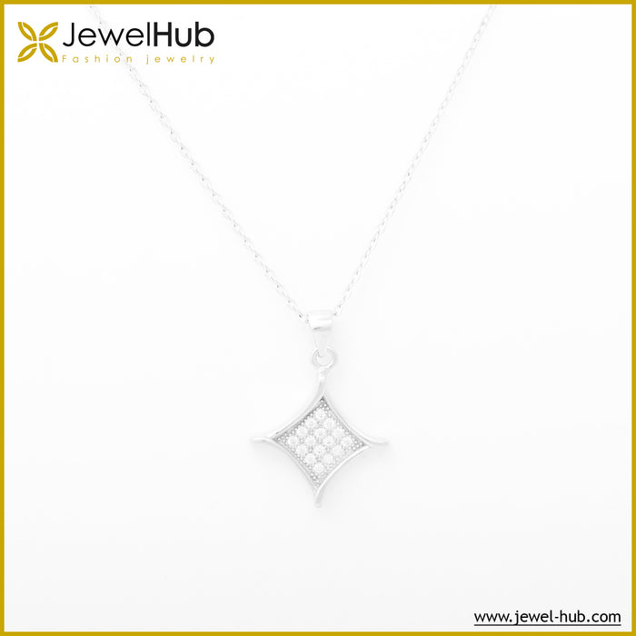 Simple Silver Necklace, Necklace - JewelHub jewelry