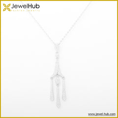 Crystals Silver Necklace