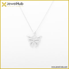 Wonderful Butterfly Silver Necklace