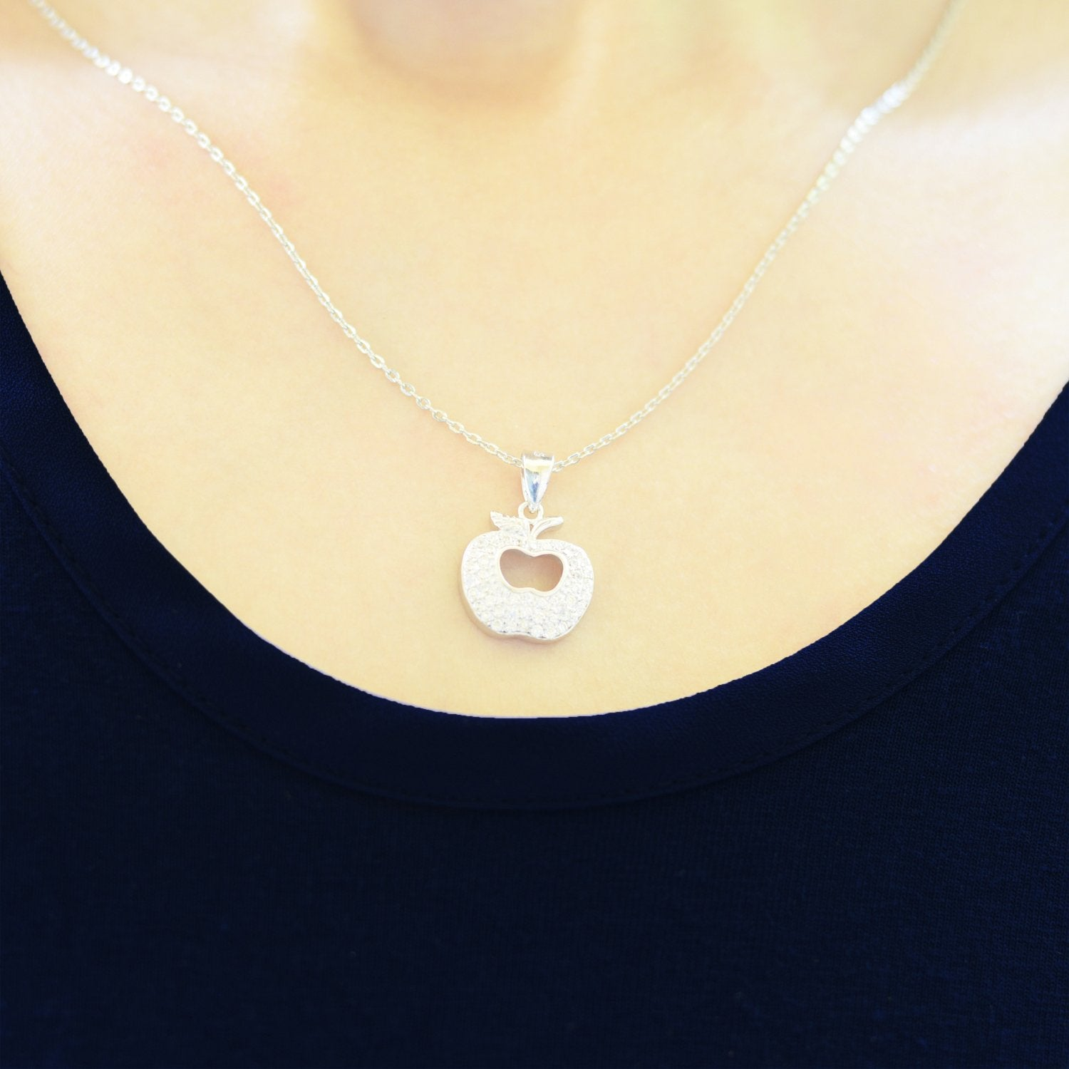 Apple Silver Necklace