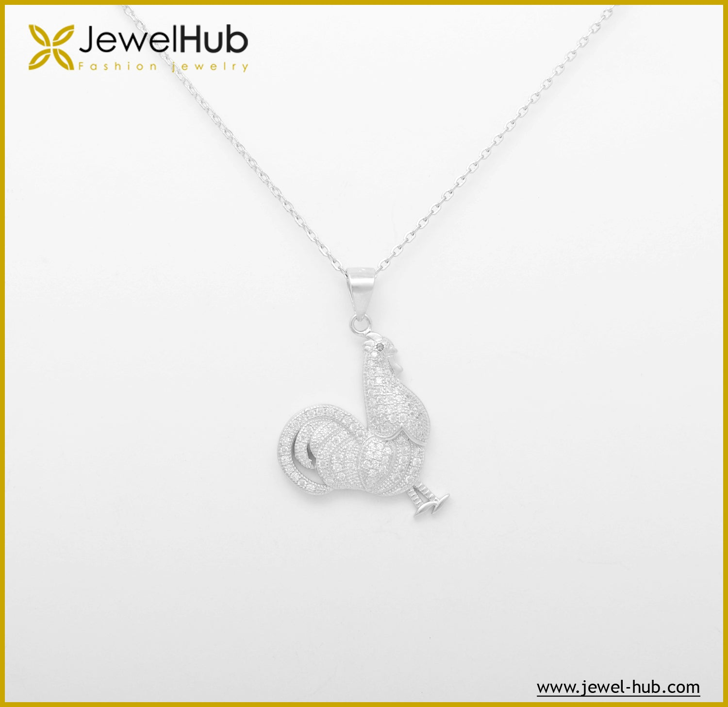 Hen Silver Necklace