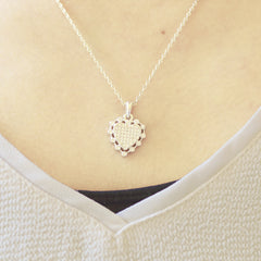 Lovely Heart Silver Necklace