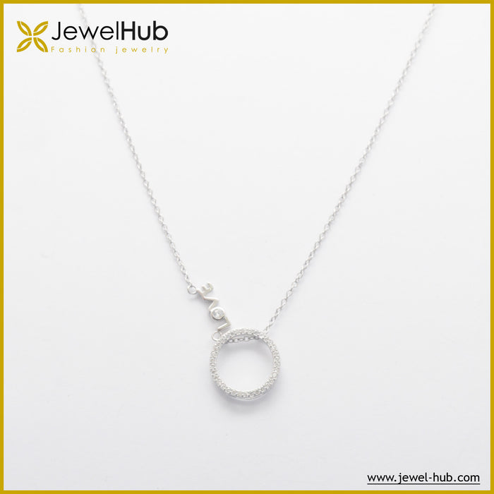 Love Silver Necklace, Necklace - JewelHub jewelry