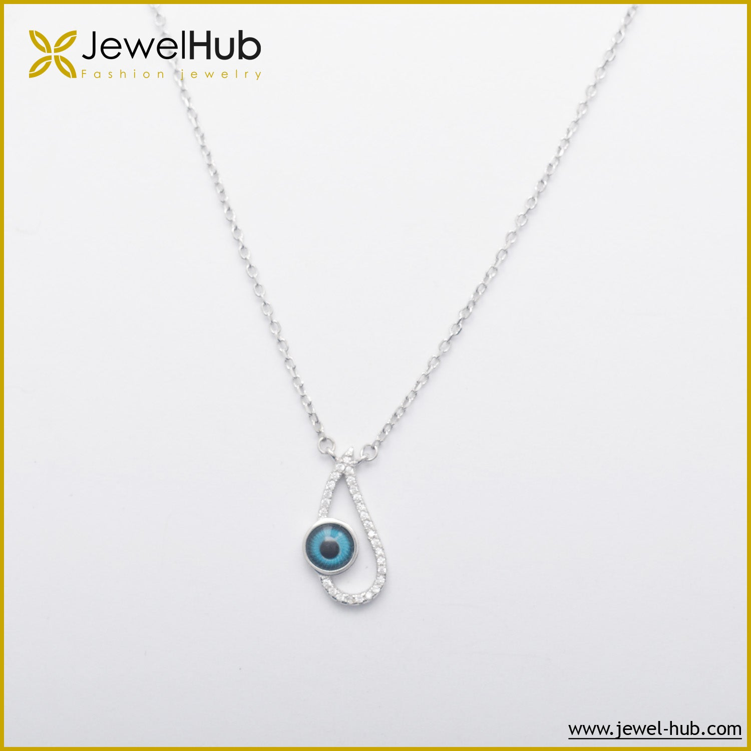 Eye Silver Necklace