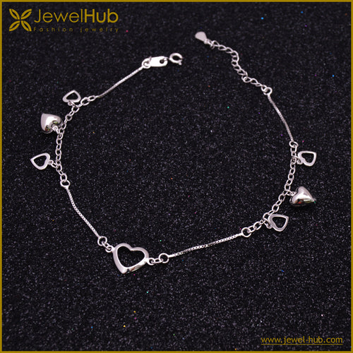 Hearts Silver Anklet