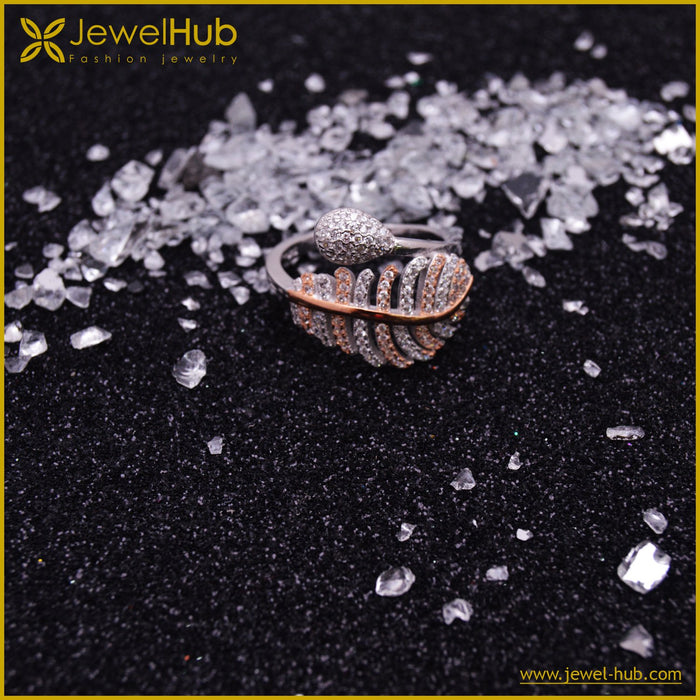 Colorful Leaf Silver Ring, Ring - JewelHub jewelry