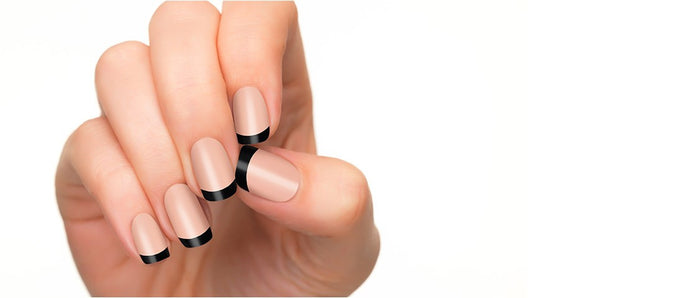 Irresistible charm is shown perfectly with our licorice nail polish strips.