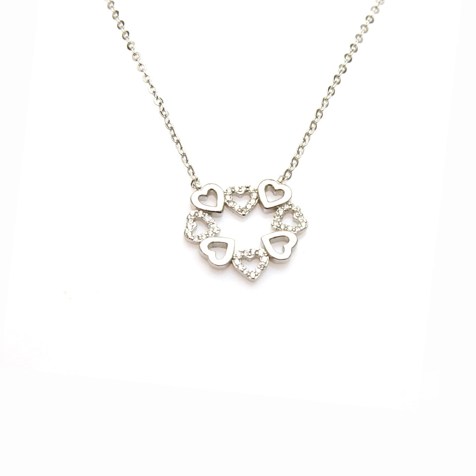 Group Of Hearts Necklace