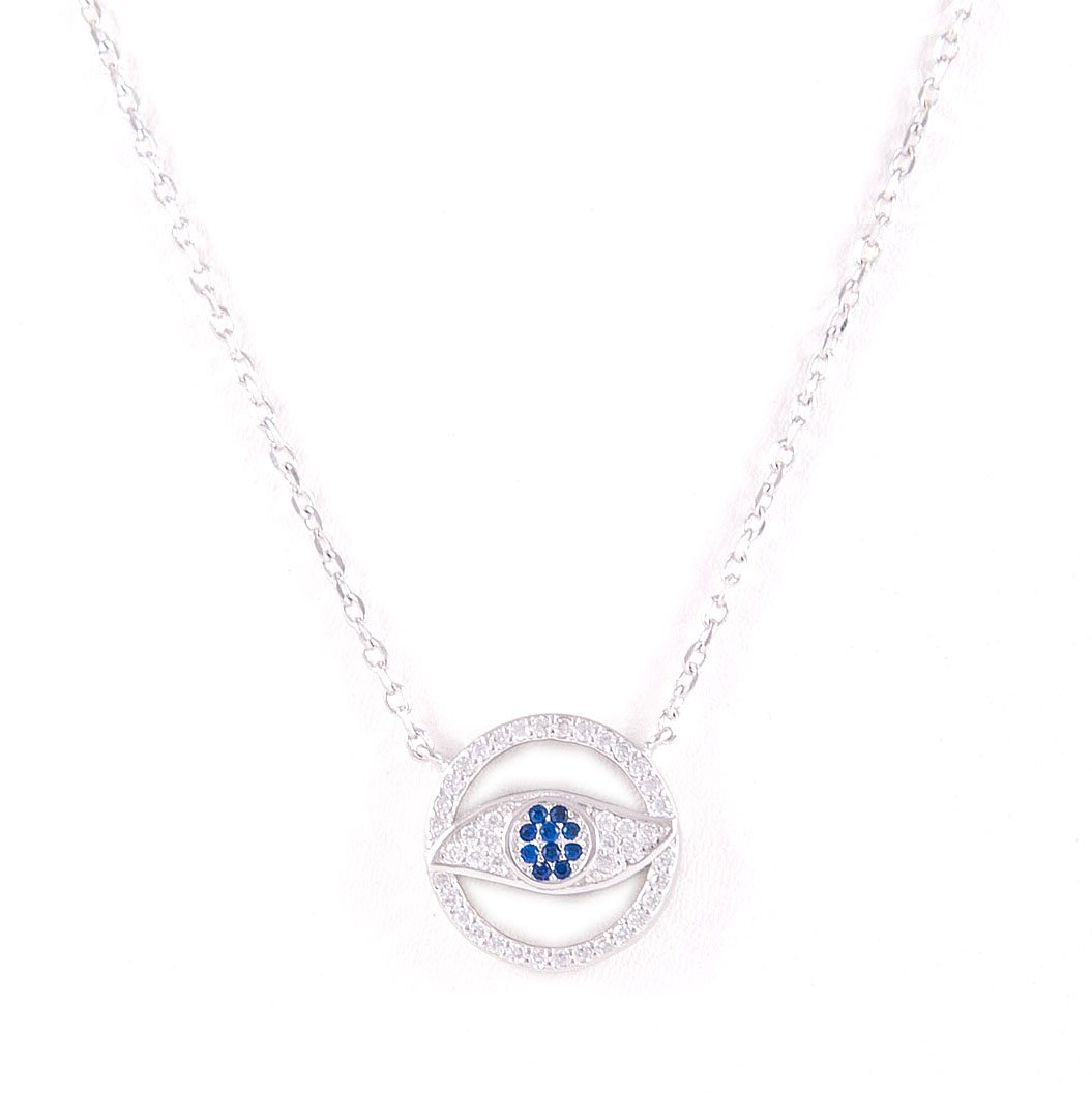 Eye circle Silver Necklace