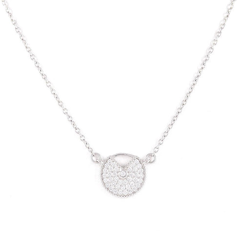 Circle Silver Necklace, Necklace - JewelHub jewelry