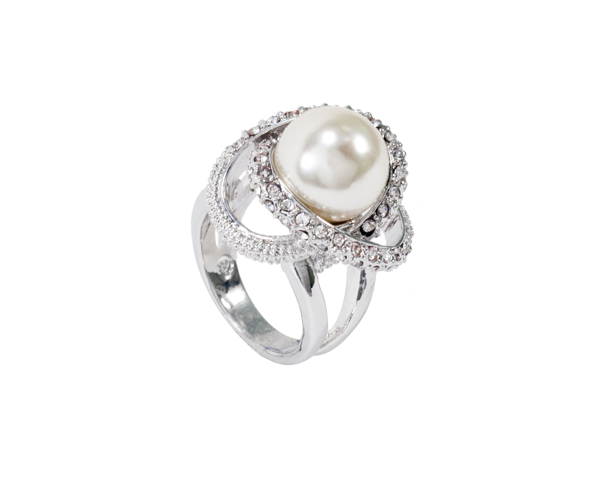 Pearl ring - Silver Plated