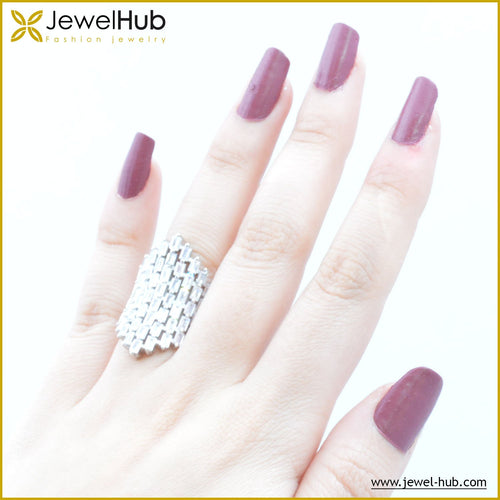Big Style Silver Ring, Ring - JewelHub jewelry