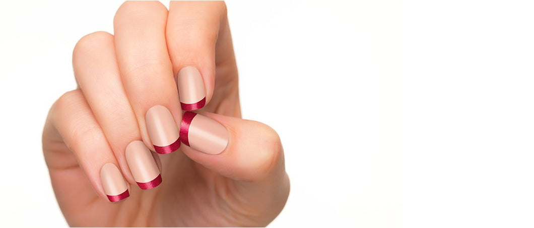 Wine red nail polish strips