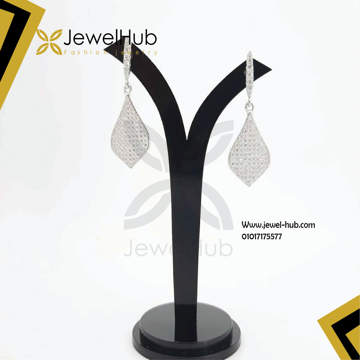 Classic zircon earrings