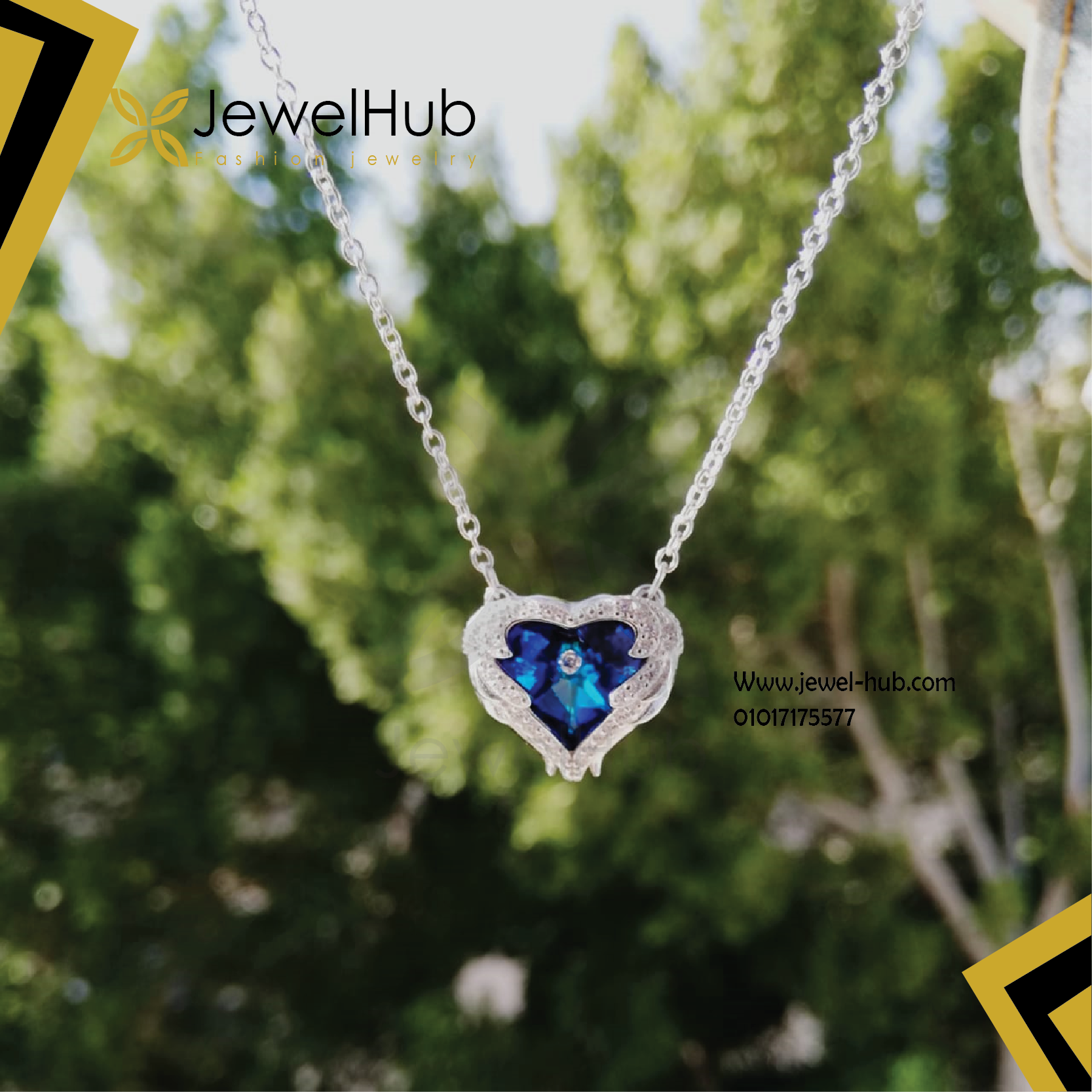 Blue heart necklase