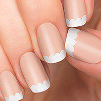 Simple white nail polish strips.