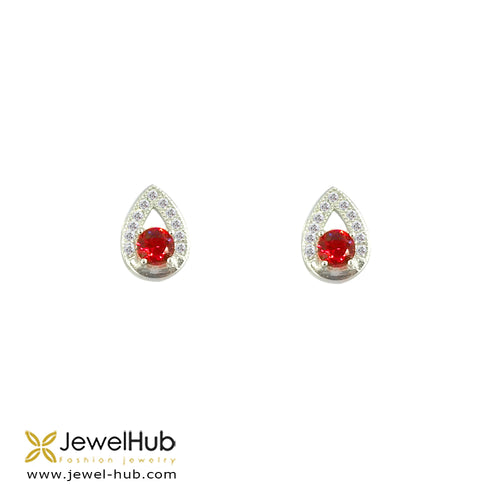 Pretty CZ Silver Earrings, Earring - JewelHub jewelry