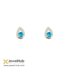 Pretty CZ Silver Earrings