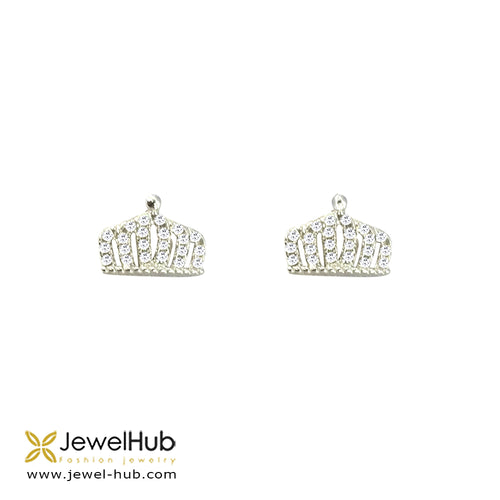 Magnificent Crown Earrings, Earring - JewelHub jewelry