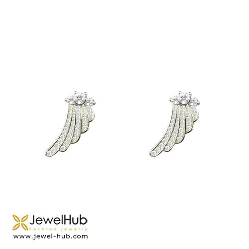 Wings Silver Earrings, Earring - JewelHub jewelry