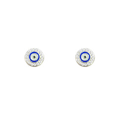 Eye CZ Earrings
