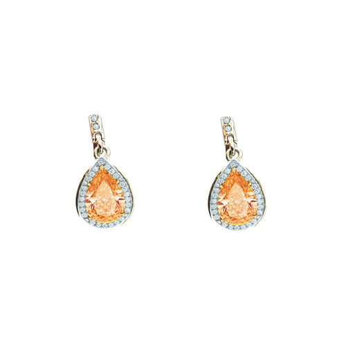Pretty Citrine Stone Earrings, Earring - JewelHub jewelry