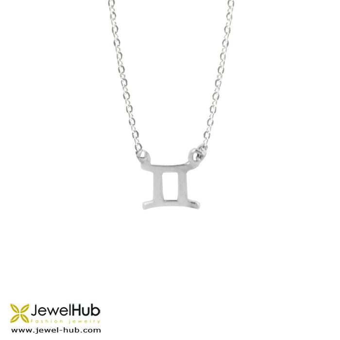 Sterling silver Gemini necklace.