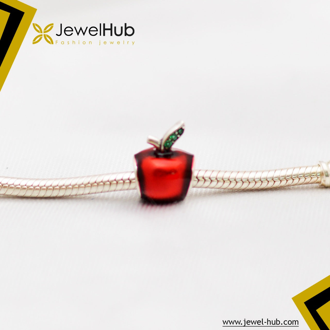 Red Apple Silver 925 Charm