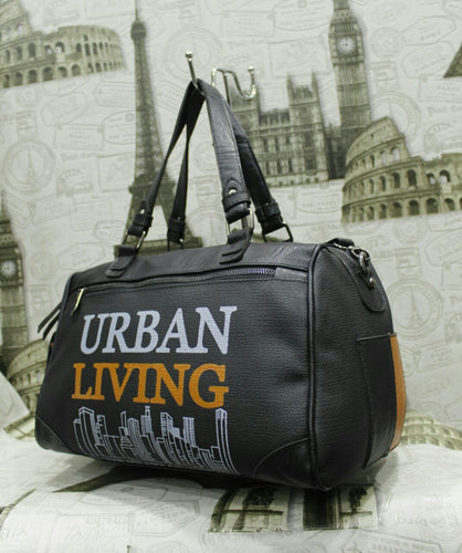 Black Urban Living Handbag