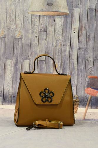 Light Brown Flower Handbag
