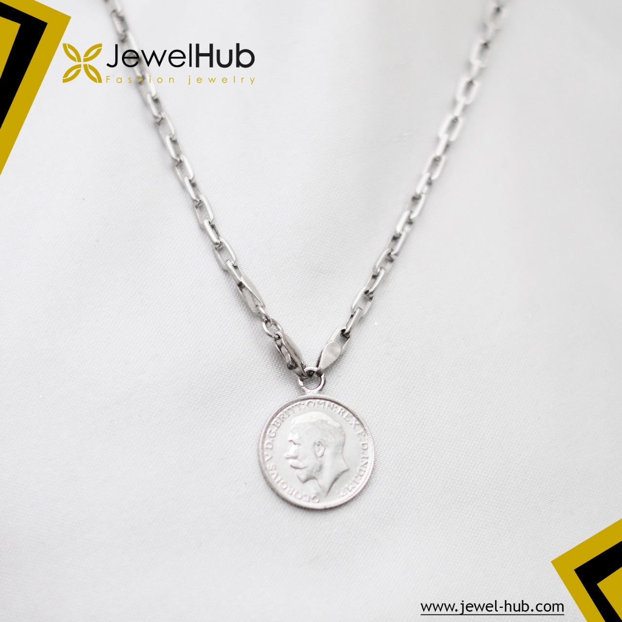 Classy Coin Silver Necklace
