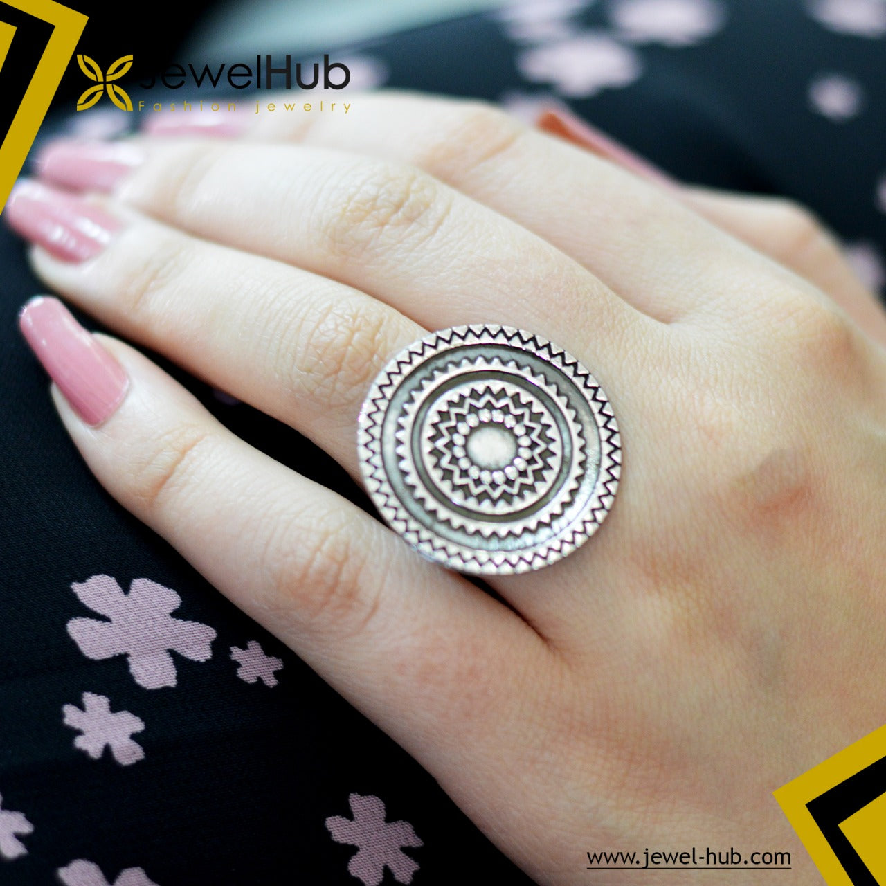 Arabian Design Silver Ring