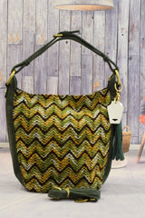 Tassels Green Handbag