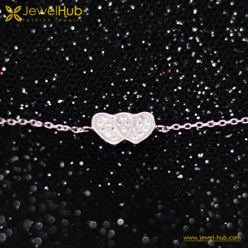 Lovely Hearts Silver 925 Bracelet
