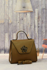 Brown Flower Handbag