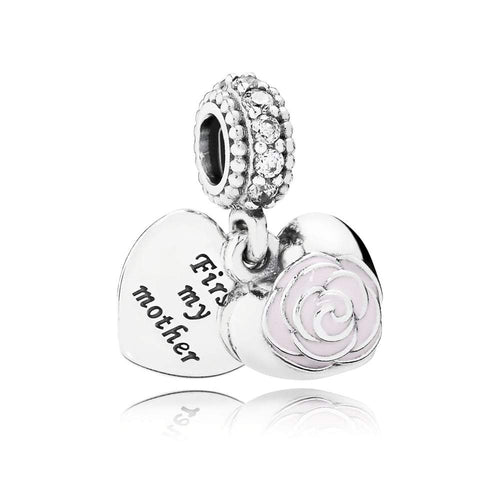 first-my-mother-pink-flower-silver-charm-925-jewelhub