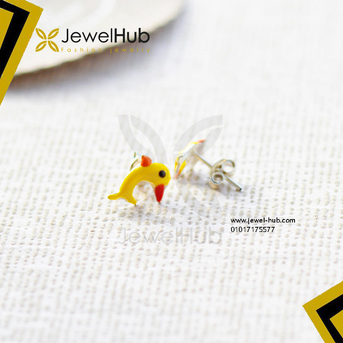 wonderful yellow dolphin earrings