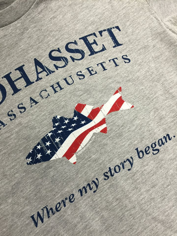 Cohasset where your story began t-shirt.