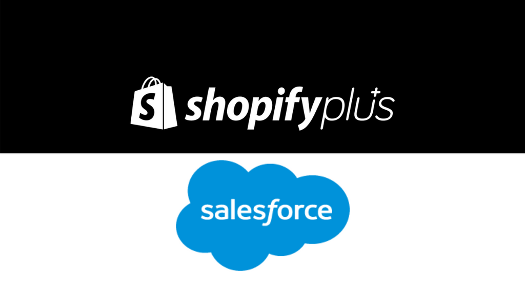 Shopify Plus and Salesfoce logo