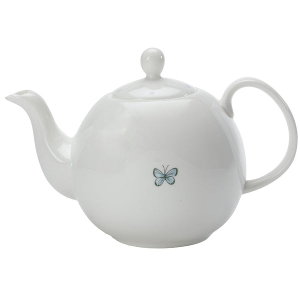 Blue Butterfly China Teapot