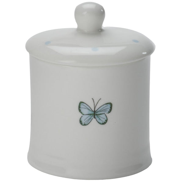 Blue Butterfly Sugar Bowl