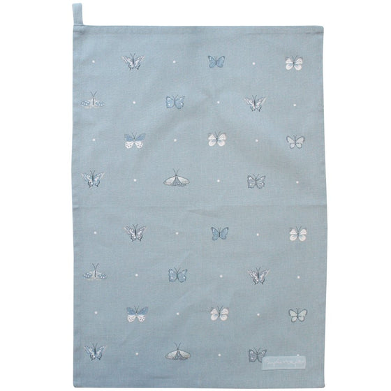 Blue Butterfly Tea Towel