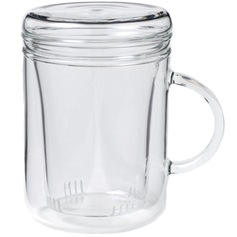 Glass Mug with Infuser Basket