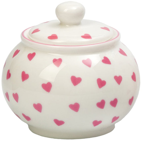 Nina Campbell Pink Heart Sugar Bowl