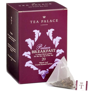 Tea Palace loose leaf breakfast tea in pyramid tea bags